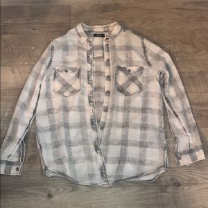 Urban Outfitters hint of pink&grey flannel shirt